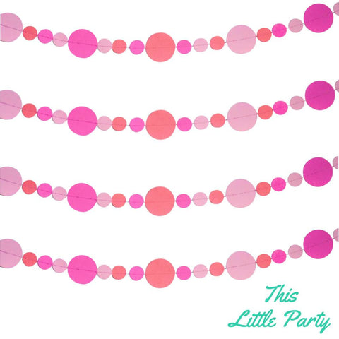 Handmade Paper Circle Garland - This Little Party