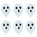 Halloween Balloons Ghost Face 6pk - This Little Party