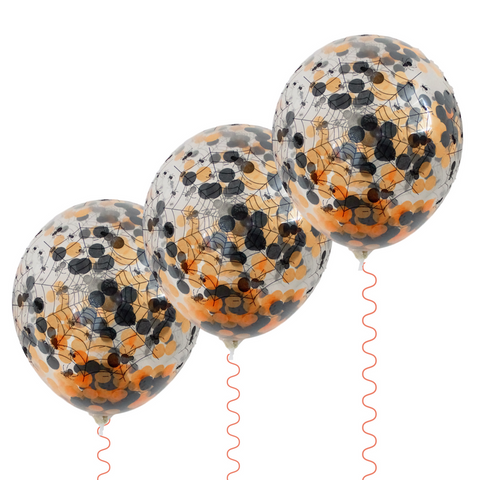 Halloween Confetti Balloons 3pk - This Little Party
