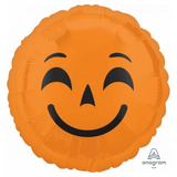 Halloween Balloon cute Emoji Pumpkin - This Little Party