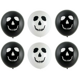 Halloween Balloons Skull 6pk - This Little Party