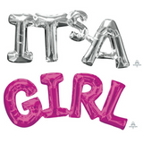 It's a Girl Baby Shower Pink Balloon Decorations - This Little Party