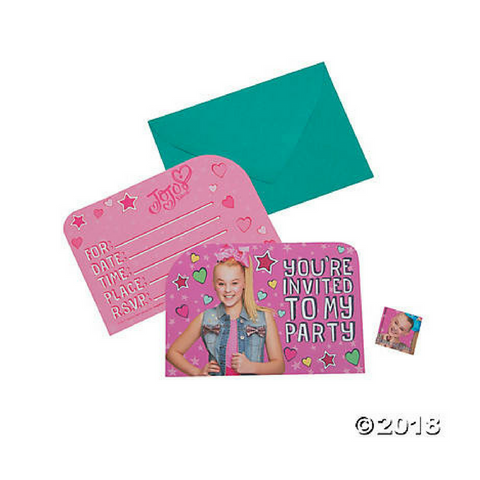 JoJo Siwa Birthday Party Invitations 8pk - This Little Party