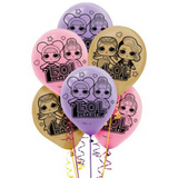 LOL Surprise Dolls Balloons 6pk - This Little Party