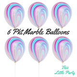 Pastel Marble Unicorn Balloons - This Little Party