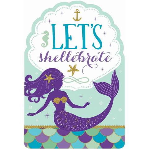 Mermaid Birthday Party Invitations - This Little Party