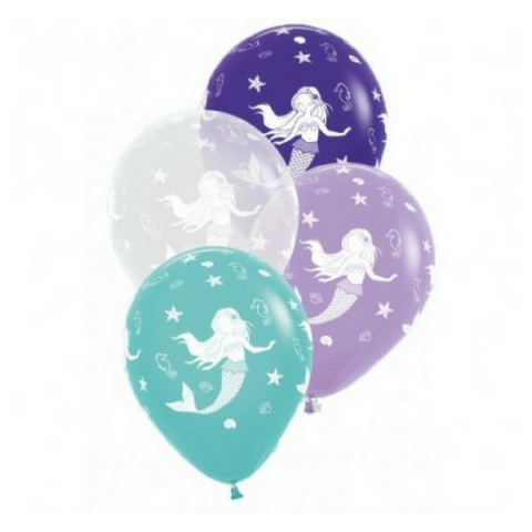 10 x Mermaid Balloons 30cm - This Little Party