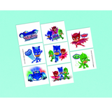Temporary Tattoos PJ Masks Party Favours 8pk - This Little Party