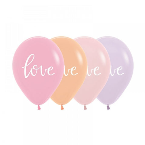Pastel Love Script Balloons - 8pk - This Little Party