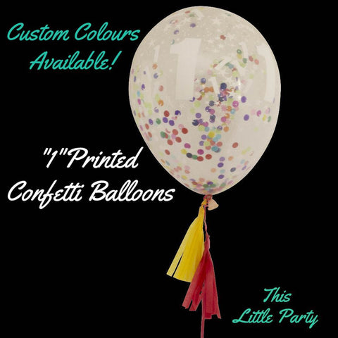 1st Birthday Confetti Balloon with Mini Tassel Tail. So Cute! - This Little Party