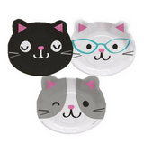 Kitty Cat Paper Party Plates 8pk - This Little Party