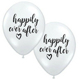 Happily Ever After Black & White Balloons 6pk - This Little Party