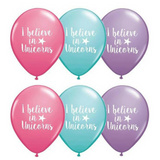 I Believe in Unicorns Pastel Latex Balloons 6pk - This Little Party