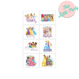 Temporary Tattoos Disney Princesses Party Favour 8pk - This Little Party