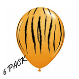 Tiger Print Wild One Jungle Balloons 6pk - This Little Party