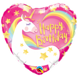 Unicorn Foil Heart Shaped Balloon - This Little Party