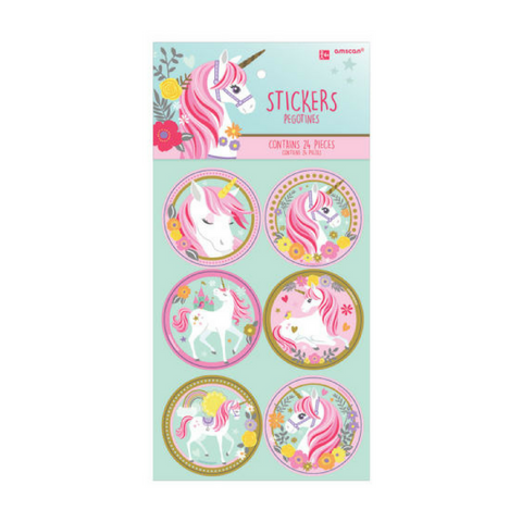 Unicorn Stickers Party Favours 24pk - This Little Party