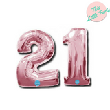 "21 Number Balloons Light Pink 100cm (40"") - This Little Party"