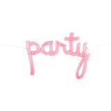 Pink Party Script Word Balloon - This Little Party