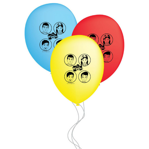 Wiggles Party Balloons 6pk - This Little Party