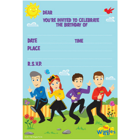 Wiggle Birthday Party Invitations 8pk - This Little Party