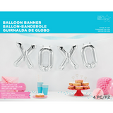 XOXO Silver Balloons Banner - This Little Party