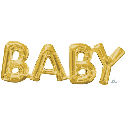 Baby Shower Balloon Gold - This Little Party
