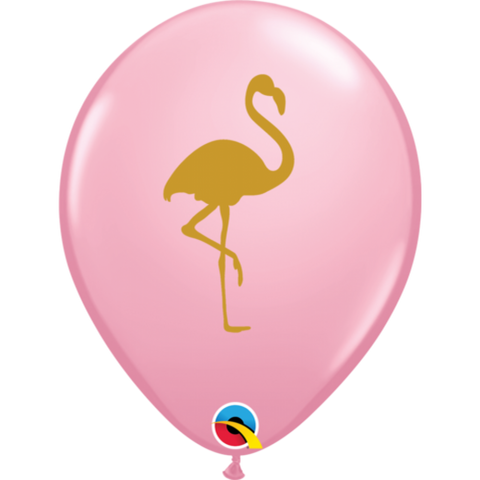 Pink & Gold Flamingo Balloons 6 pk - This Little Party