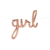 Rose Gold Girl Baby Shower Script Balloon - This Little Party