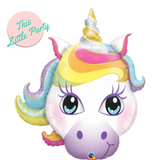Unicorn Rainbow Party Balloon - This Little Party