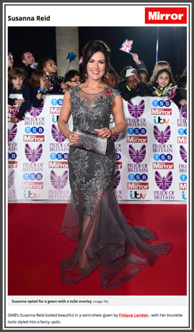 Susanna Reid Dresses Red Carpet