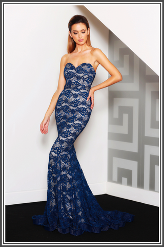 Sapphire Gown - Blue / Nude