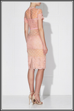 Ava Midi Dress - Powder Pink / Nude
