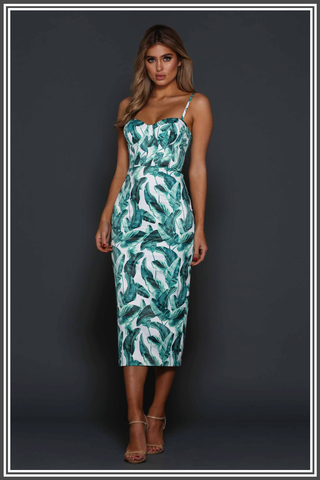 Alannah Midi Dress by Elle Zeitoune