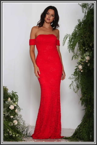 Elle Zeitoune Andi Dress Red