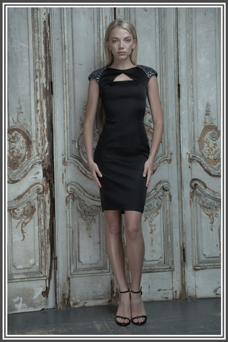 Aloura London Satin Dress - Black