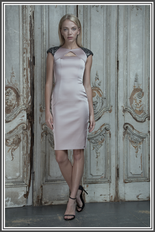 Aloura London Satin Dress - Pink