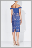 Blue Midi Dress Love Honor