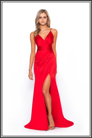 Monroe Red Maxi Dress by Bariano | Red Monroe Gown from Bariano