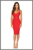 Nookie Blake Midi Dress Cherry Red