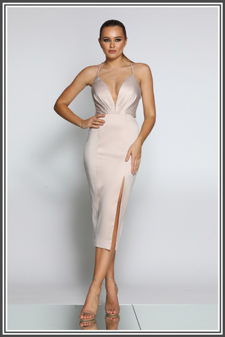 Jadore Bella Dress in Nude