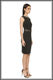Cavendish Embellished Dress - Black Neoprene