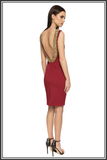 backless dress red