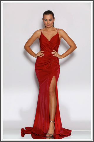 Jadore Carmen Gown in Red