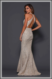 Clement - Gold Sequin Gown