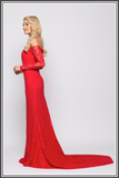 Bariano Dahlia Gown - Red