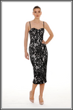 Giselle & Sophia Dolce Ivory Black Midi Dress