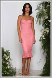 Dominique Dress - Lolly Pink