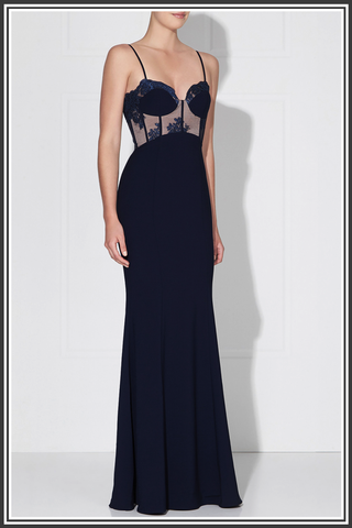 Empress Gown - French Navy