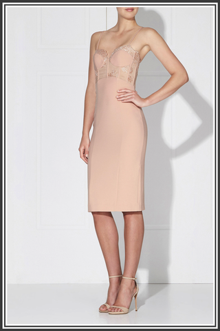 Empress Midi Dress - Powder Pink